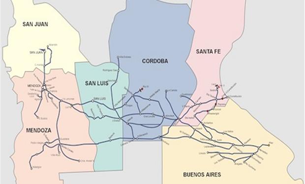 El alto potencial de la línea de ferrocarril San Martín.