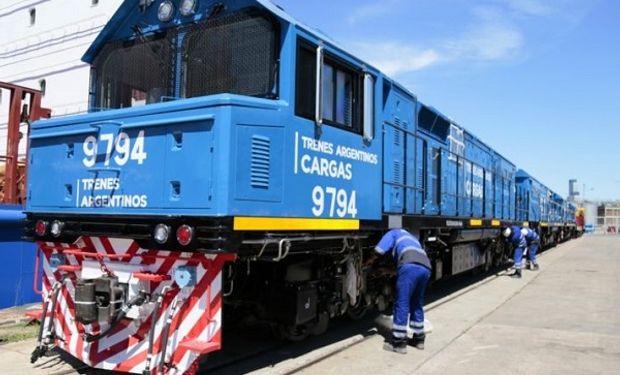 Se recuperarán 1020 kilómetros de vías del tren une la región de Cuyo con los puertos de Rosario y Buenos Aires.