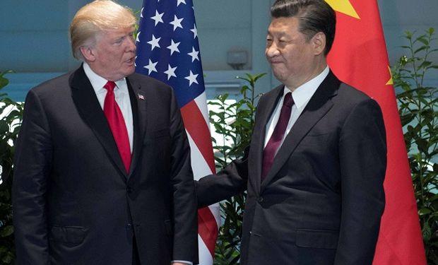 Presidente de Estados Unidos, Donald Trump y su par chino, Xi Jinping.