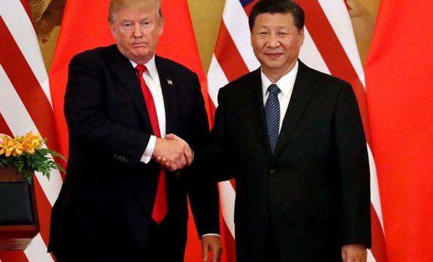 Presidente de Estados Unidos, Donald Trump y su par chino Xi Jinping.