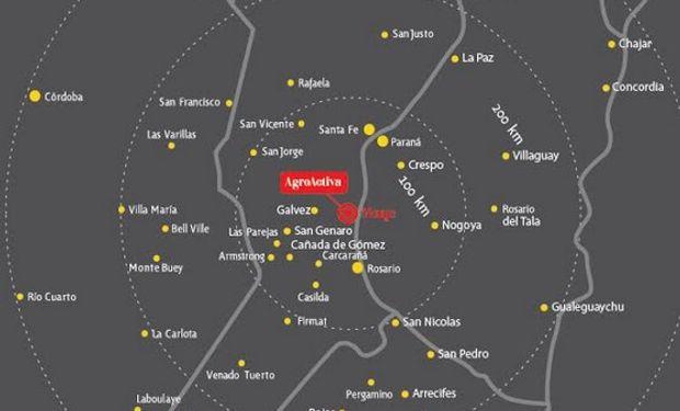 Tres de las localidades más cercanas al evento, incluyendo a la anfitriona Monje, son además Barrancas y Maciel.