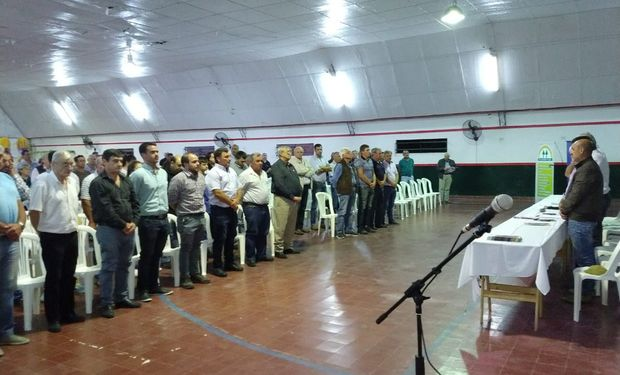 Asamblea de Productores en El Tío, Córdoba.