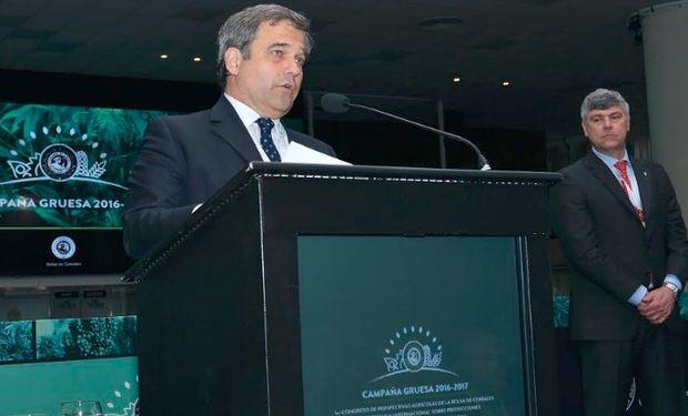 Ricardo Valderrama, presidente de la Bolsa de Cereales, manifestó su apoyo a la modificación en el esquema de reducción de las retenciones.