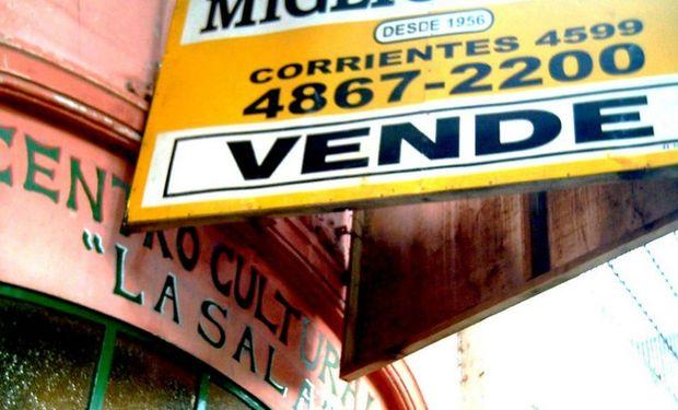 La venta de inmuebles en Capital está en uno de sus niveles históricos más bajos.