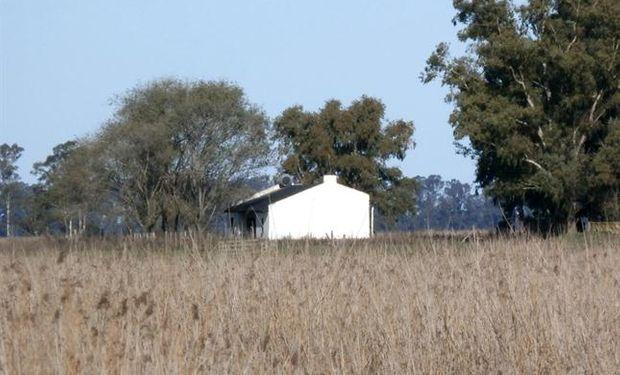 El campo se va despoblando: una casa abandonada en un campo cercano a Carlos Casares.