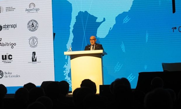 Presidente de la Bolsa de Cereales de Córdoba en Trigar 2019. Foto: Bolsa de Comercio de Rosario.