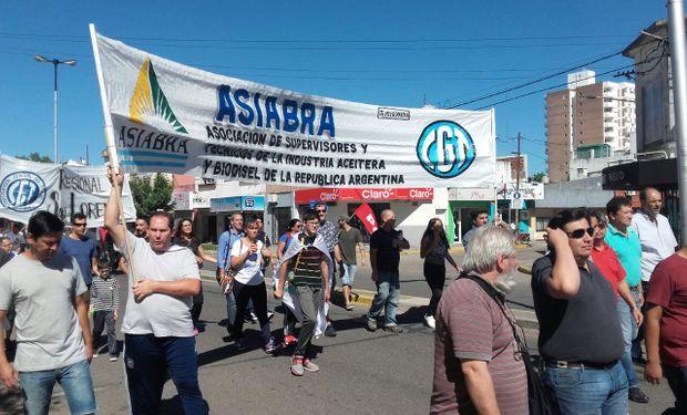 La movilización en la ciudad de San Lorenzo.
