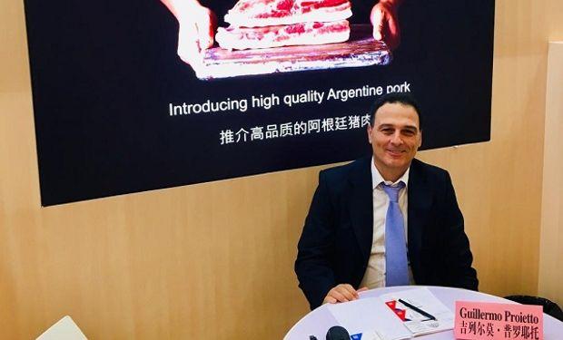 Guillermo Proietto, Gerente de Argenpork en la feria SIAL de China.