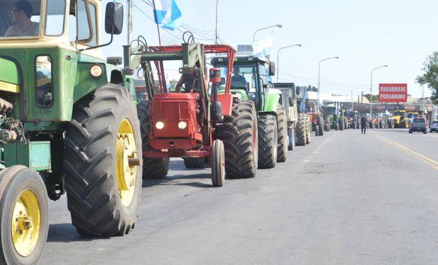 Tractorazo en Pergamino.
