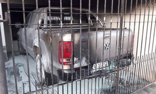 Incendio intencional sobre la camioneta de un dirigente rural.