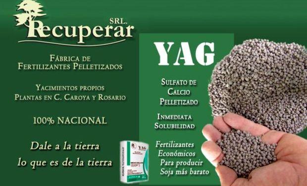 La aplicación de YAG no sólo es recomendable por su característica de enmienda, sino también por la capacidad de fertilizar con azufre fácilmente disponible.