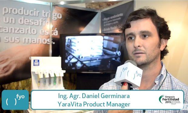 En entrevista exclusiva con fyo el Ing. Agr. Daniel Germinara se refirió  a la presencia de Yara en el evento.