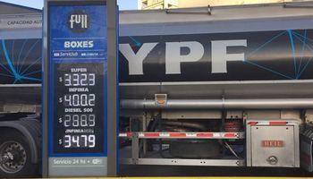 YPF baja hasta 1,5% sus naftas y aumenta 3,2% el gasoil