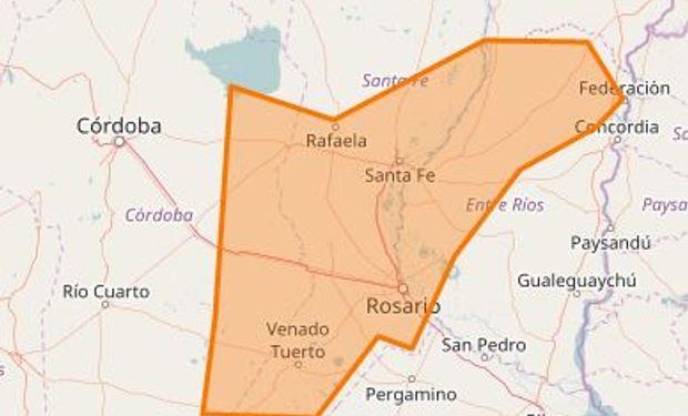 La zona afectada por las tormentas.