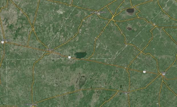 La zona bajo estudio corresponde al sur del Departamento General López, en la Provincia de Santa Fe y la parte norte de los partidos General Pinto y General Villegas de Buenos Aires.