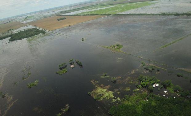 Zona de Villa Minetti afectada por las precipitaciones.